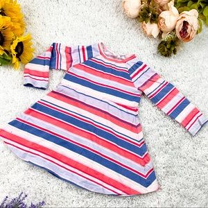 GAP Striped Long Sleeve Dress | Girls 3 Years
